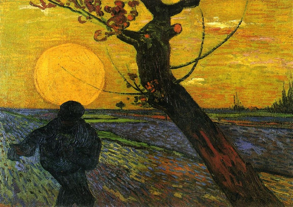 Van Gogh, Vincent: Sower with Setting Sun. Fine Art Print/Poster. Sizes: A4/A3/A2/A1 (001532)